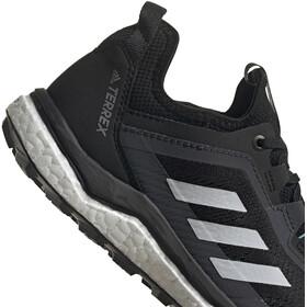 adidas TERREX Agravic Flow Trail Running Shoes Women core black/crystal white/acid mint